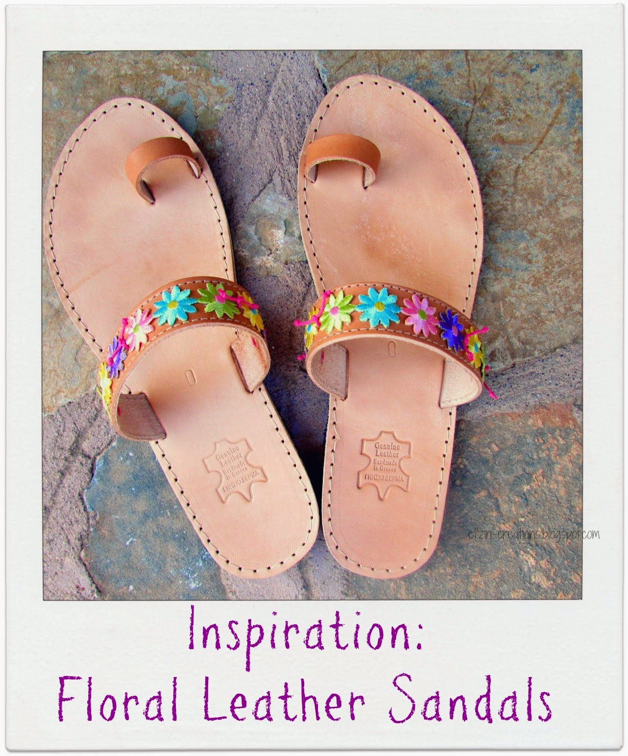 41d3ee909a7 DIY How to decorate with flowers your Summer leather sandals - Ef ...