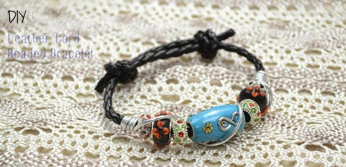 I Am Glad To Be Again In Zina S Blog And This Time Have Share With You An Easy Boho Bracelet That Everyone Can Craft Leather Beads
