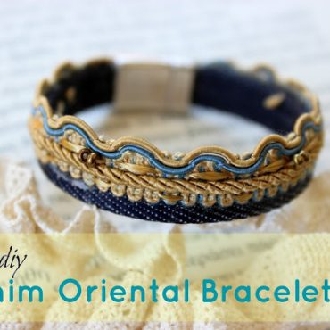 DIY Denim Oriental Bracelet!!!!