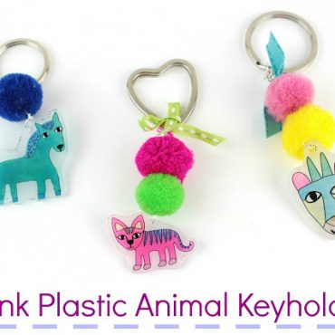 Diy Shrink Plastic Animal Keyholders!