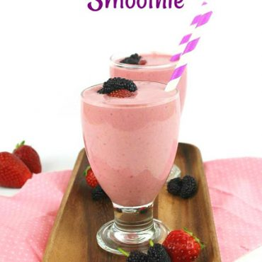 Double Berry Yogurt Smoothie!