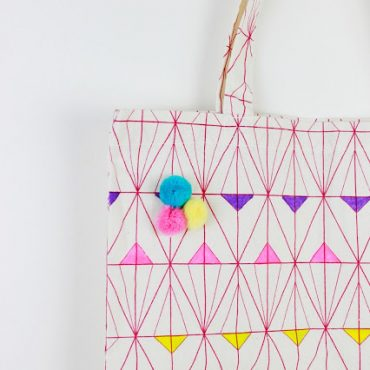 DIY Geometric Painted Tote Bag!!!