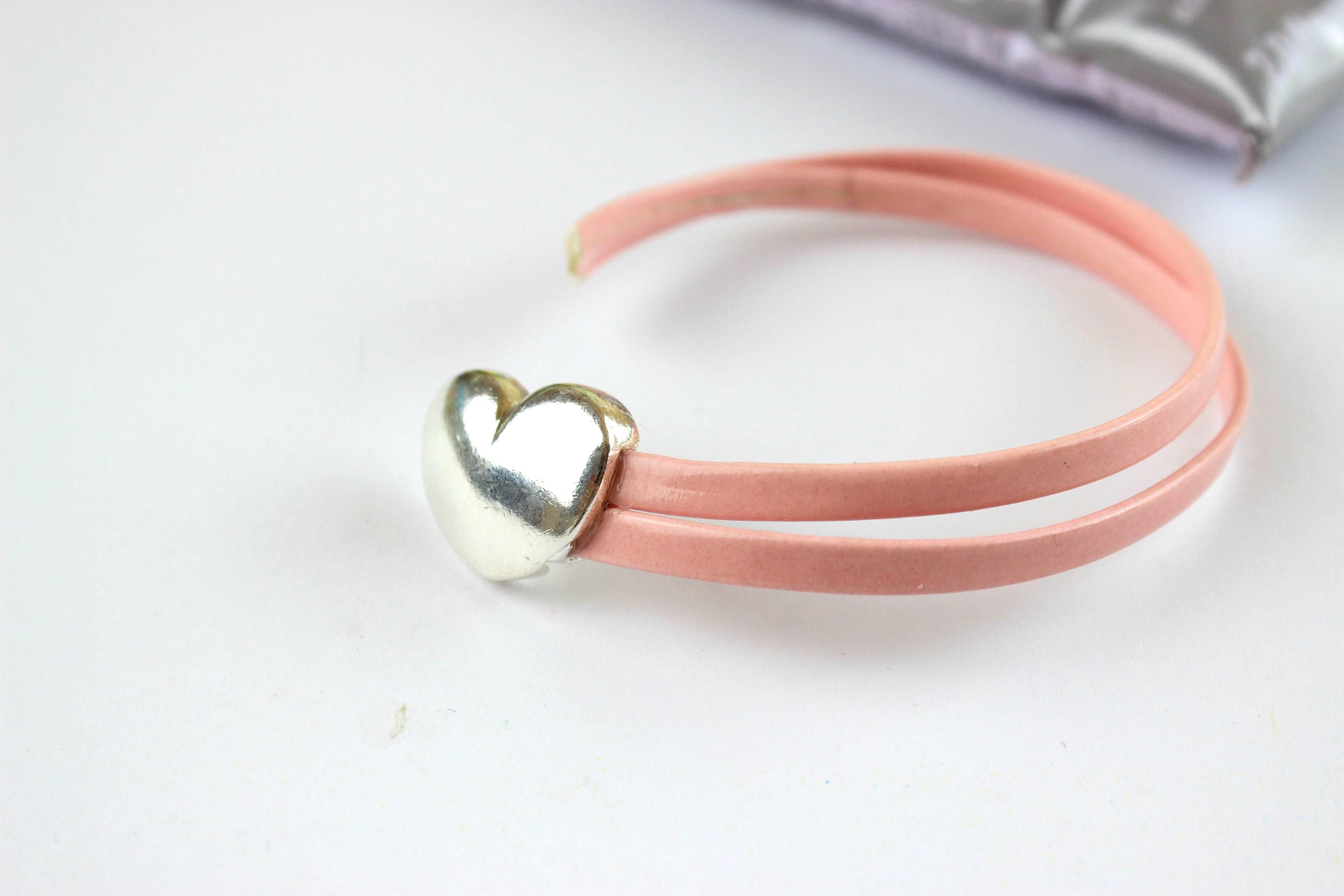 Diy Heart Leather Bracelet Ef Zin Creations