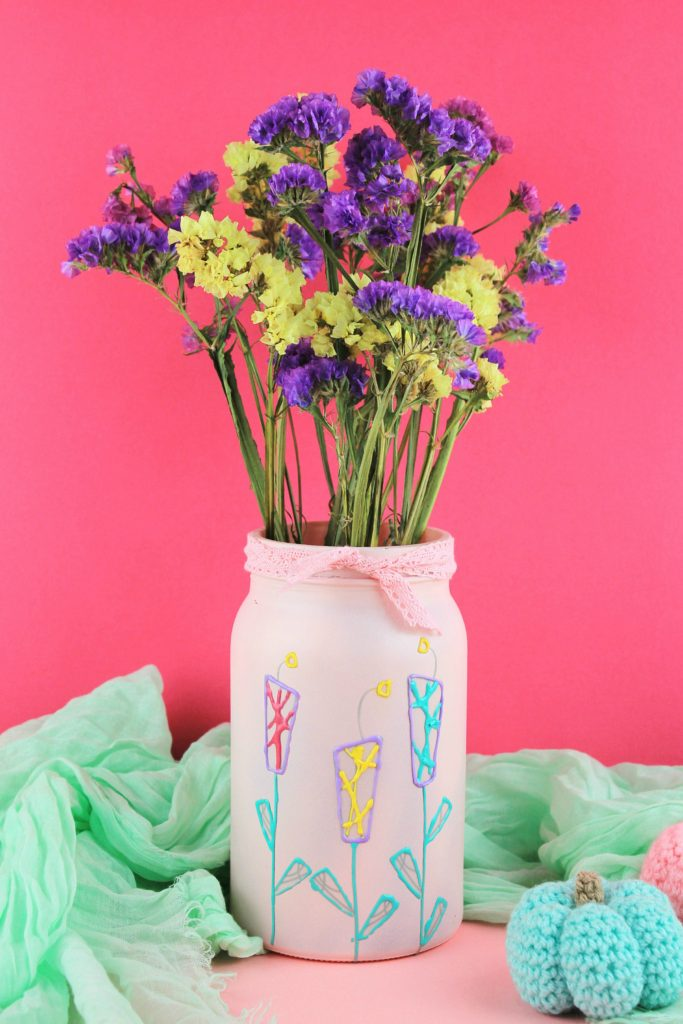 Ef Zin Creations & DIY Upcycle Jar to Flower Vase - IKEA hack - Ef Zin Creations