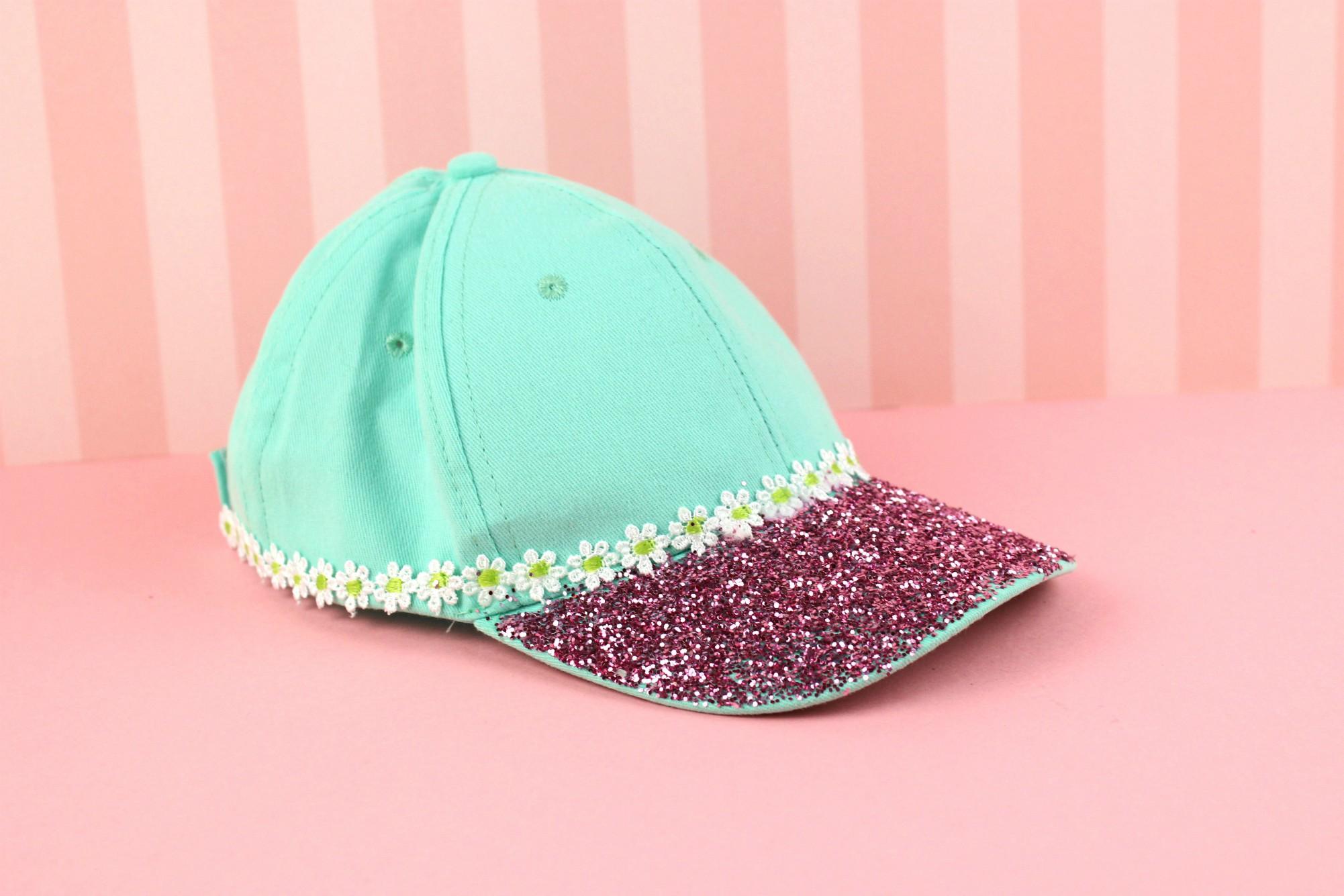 060ab0b0 diy Summer Baseball Hat with Glitter